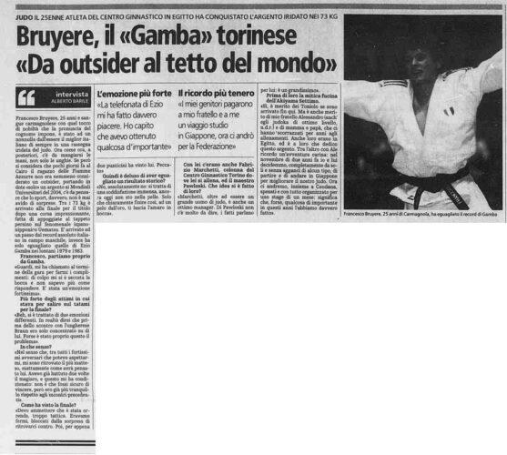 Fonte: La Stampa 16/09/2005